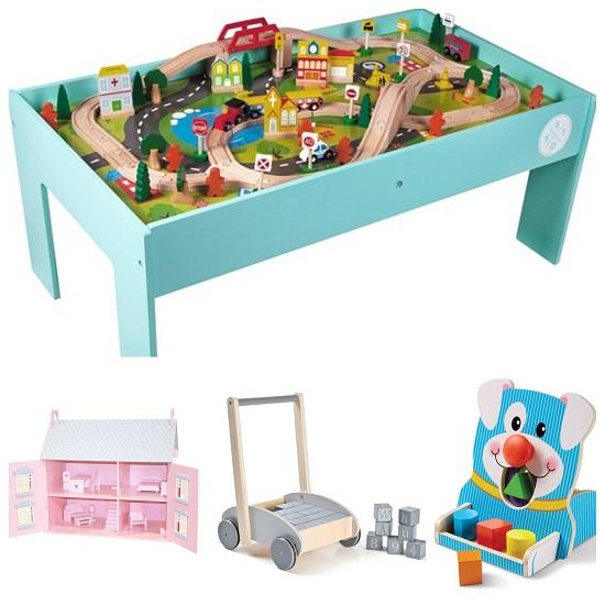 Träleksaker leksaker av trä